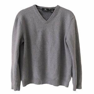 Calvin Klein Merino Wool V Neck Preppy Sweater
